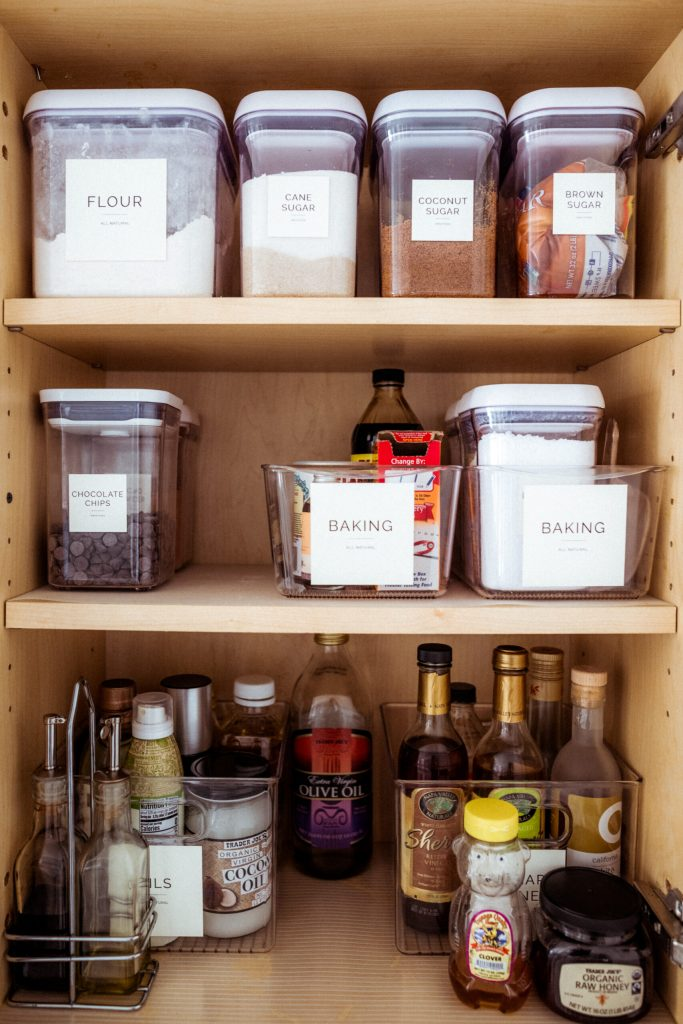 Kitchen Pantry Organization, How to Declutter Your Cabinets | Charmed by Camille