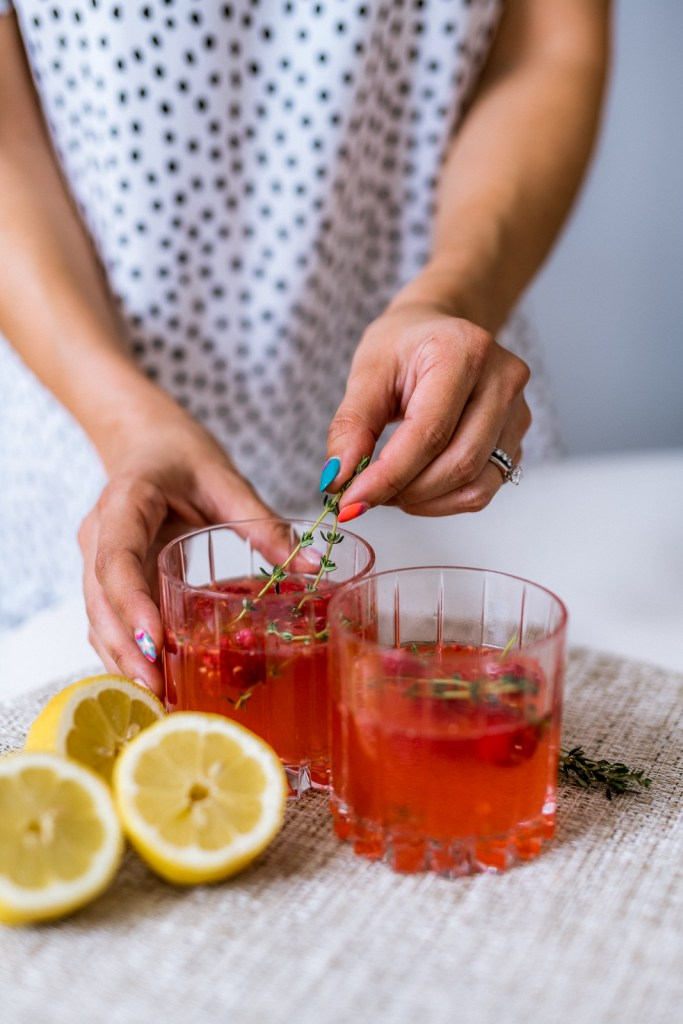 How to Make a Raspberry Lemon Drop. Summer drink recipe for July 4th and Memorial Day Cocktail ideas.    Charmed by Camille
