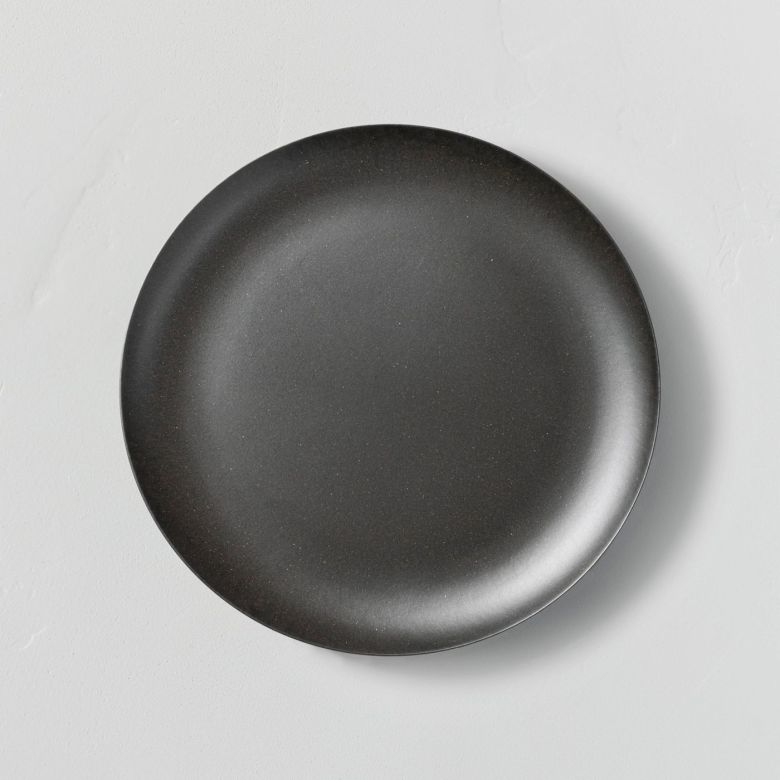 Dark Gray Melamine Plates - Outdoor Dining Table Decor Under $50   Charmed by Camille