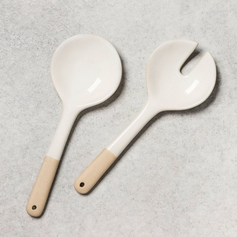Magnolia Salad Servers Target - Outdoor Dining Table Decor Under $50   Charmed by Camille