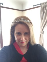My husband said I couldn't wear my birthday tiara since technically it's no longer my birthday. Thankfully I have this spare tiara.