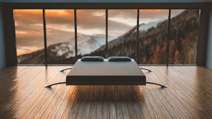 A minimalist bed for fancy, rich people