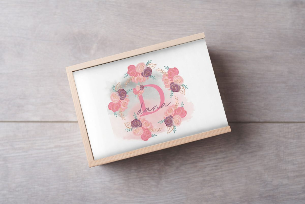 Ballerina-name-Keepsake-Box-Large