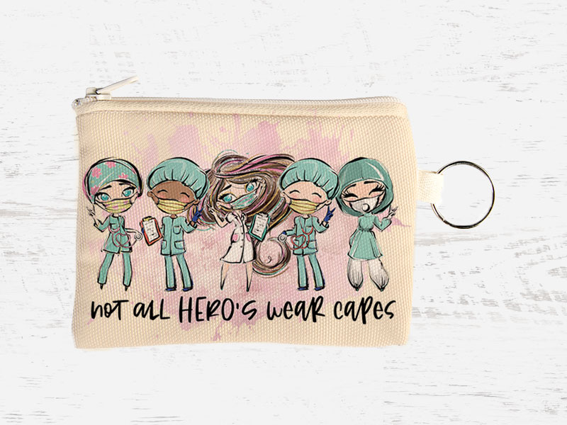 Coin-Purse-FFB001-Medical-Dr-Nurse-Pouch-Puzzle-Quote