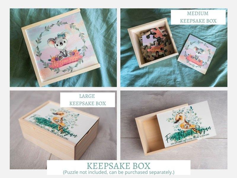 Small, Medium & Large Keepsake Box