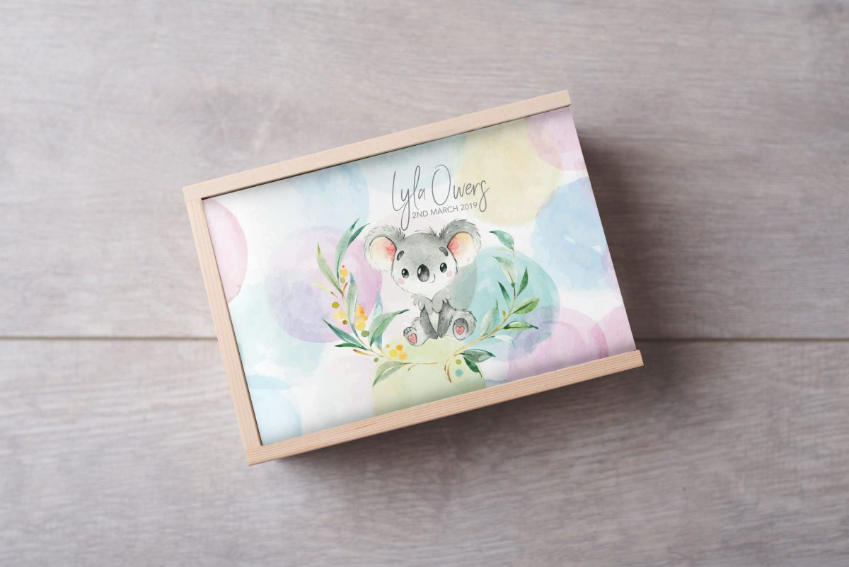Koala-Bubbles-name-Keepsake-Box-Large
