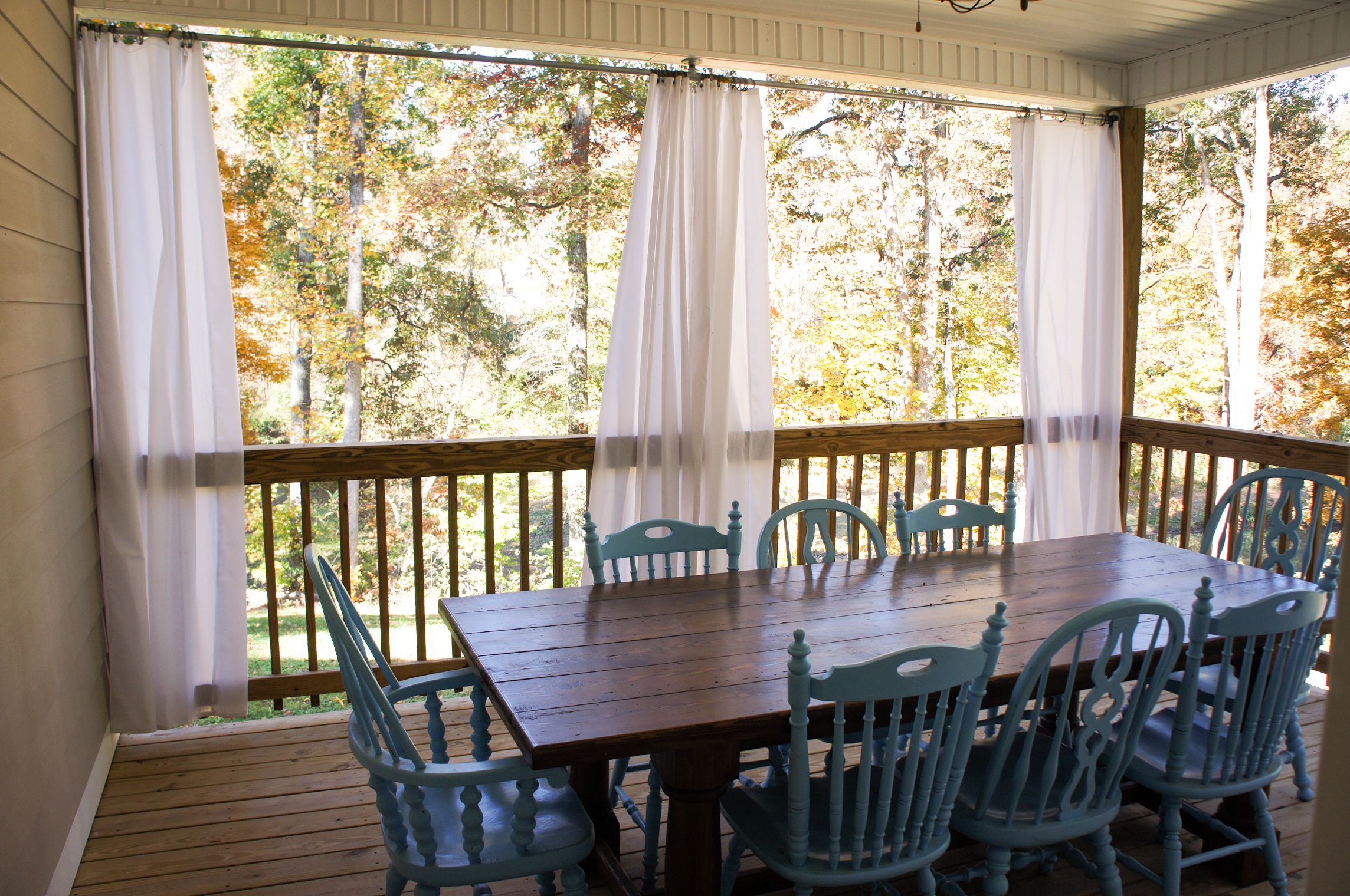 Outdoor Dining  The First Farmhouse Table  CharmingOllie