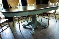 Kitchen Table Redo : Duck Egg Blue | Charming-Ollie
