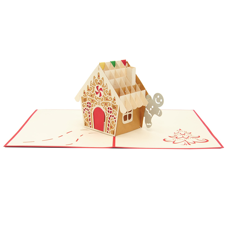 Gingerbread House Pop Up Card Christmas Pop Up Card High