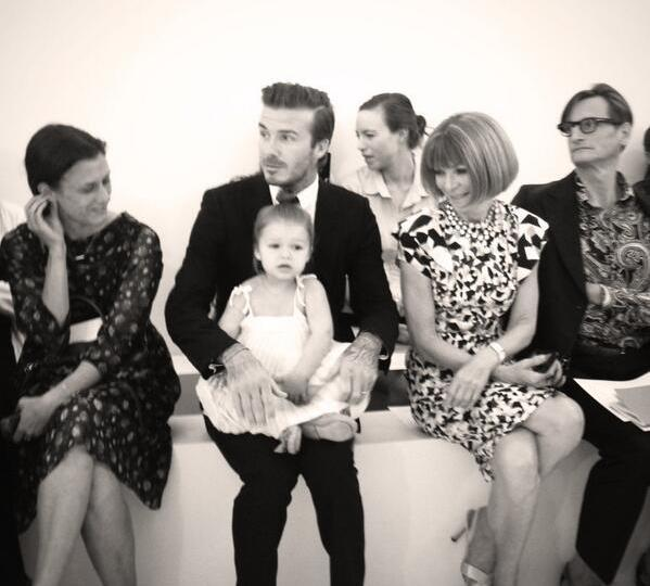 Victoria Beckham #NYFW All eyes on Baby Harper at #SS14, Victoria Beckham #NYFW All Eyes On Baby Harper #SS14 Showing