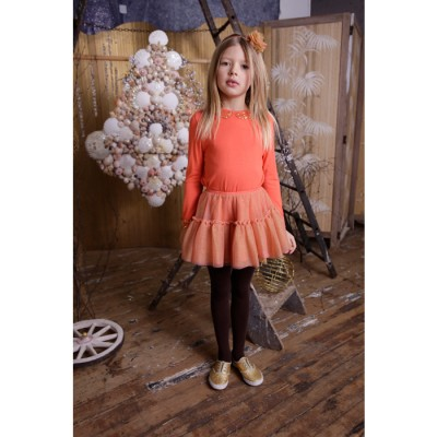 Party Can Can Skirt Coral 2