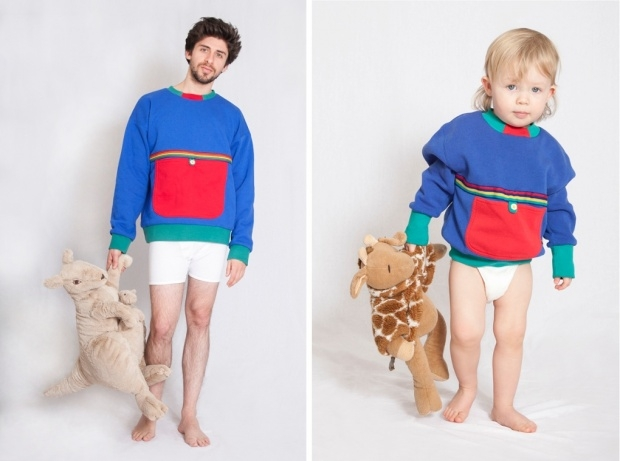 Dad creates adult baby clothes CharmPosh
