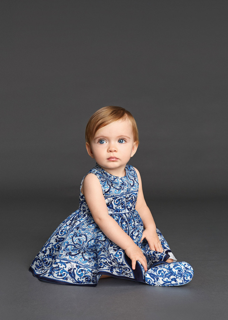 Baby Girl Clothes Dolce and Gabbana Winter 2016 CharmPosh Blue