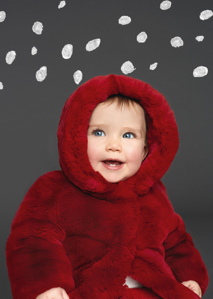 Baby Girl Clothes Dolce and Gabbana Winter 2016 Red Fur CharmPosh