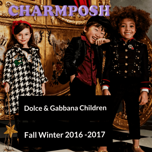 Dolce & Gabbana Children Fall Winter 2016 -2017 top CharmPosh