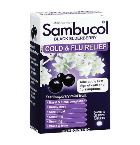 Sambucol Black Elderberry Cold and Flu CharmPosh
