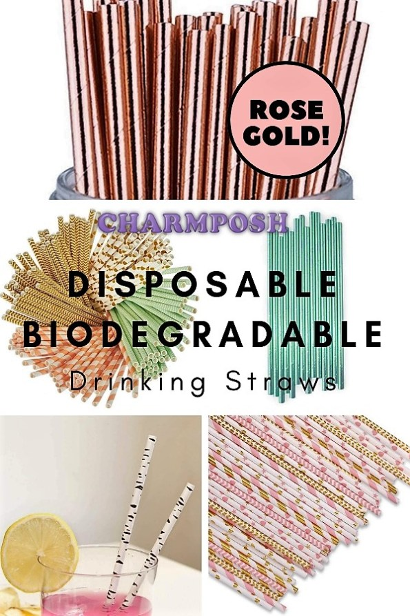 Disposable Biodegradable Drinking Straws CharmPosh