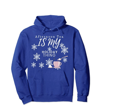 CharmPosh: Afternoon Tea Holiday Pullover Hoodie