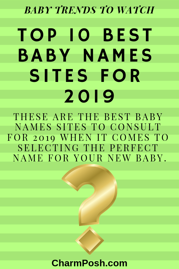 Top 10 Best Baby Names Sites For 2019 CharmPosh