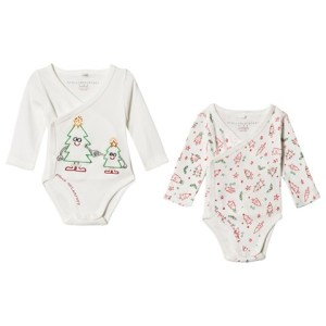 White Birdie Christmas Baby Bodies Set by Stella McCartney Kids CharmPosh