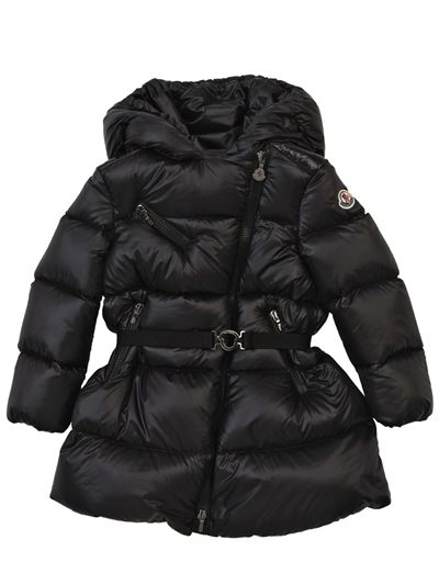 MONCLER Logo Girls Black Gelinotte Nylon Down Ski Jacket Coat CharmPosh main