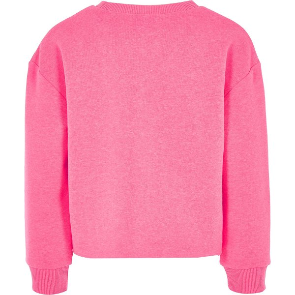River Island Kind is the new cool Girls Pink Jersey Fabric Sweatshirt back CharmPosh