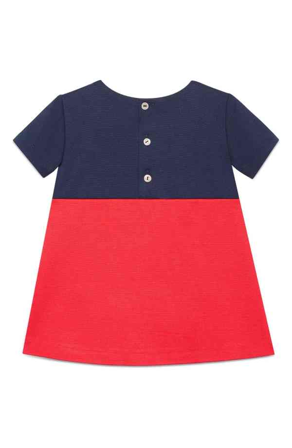 Gucci Bib Dress Colorblock For Baby Toddler Girls 12 - 18 Months CharmPosh back