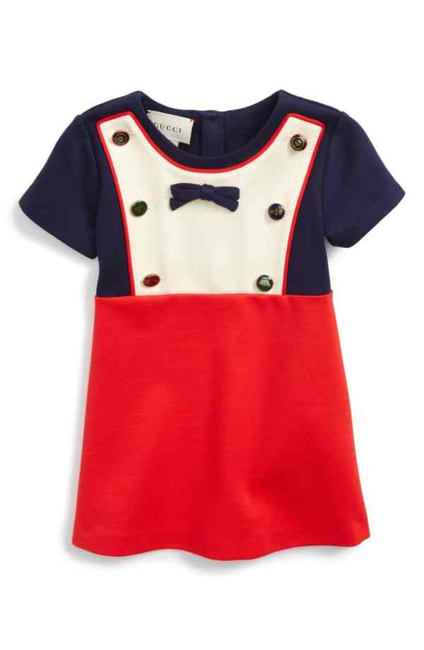 Gucci Bib Dress Colorblock For Baby Toddler Girls 12 - 18 Months CharmPosh