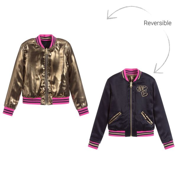 Reversible Bomber Jacket For Girls by Little Marc Jacobs CharmPosh