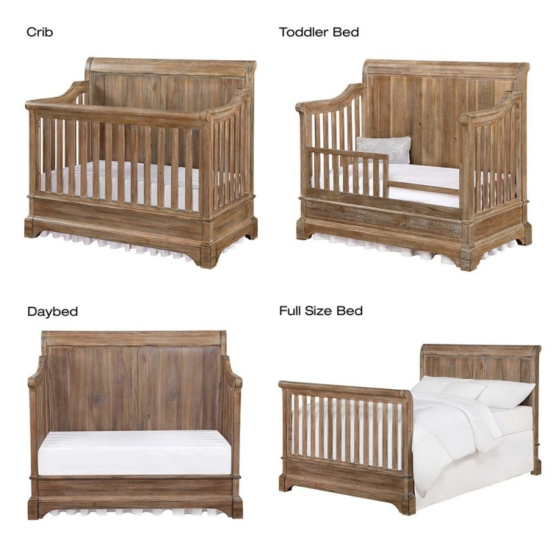 Bertini Pembrooke Brown 5-in-1 Convertible Crib CharmPosh Baby Cribs