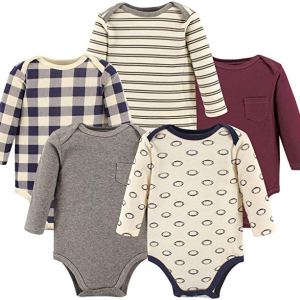 Unisex Baby Onesie Long Sleeve Cotton Bodysuits By Hudson Baby CharmPosh
