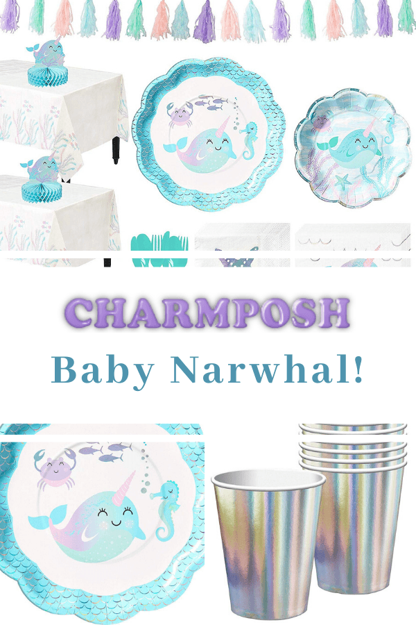Baby Narwhal Baby Shower Ideas, Baby Narwhal Baby Shower Ideas Party Kit
