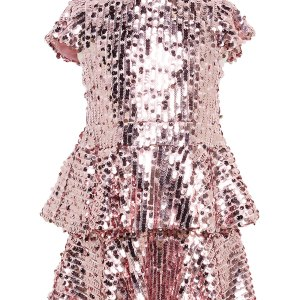 Girl's Leila Sequin Peplum Dress by Bardot Junior CharmPosh