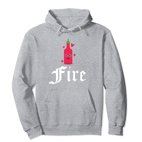 Hot Sauce For Fire Hearts Designer Pullover Hoodie Collection