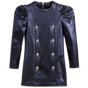 Balmain Girls Metallic Blue Dress CharmPosh 2