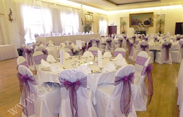 wedding chair sash cherry wood chairs covers, belfast, northern ireland / charm studio,