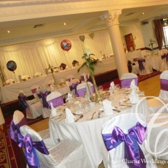 Ivory Satin Chair Covers Lobster High Wedding Covers, Belfast, Northern Ireland / Charm Studio,