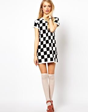 Robe ASOS Petite motif damier - Charonbellis blog mode