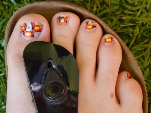 Le nail art, ça marche aussi pour les pieds ! - Charonbelli's blog beauté