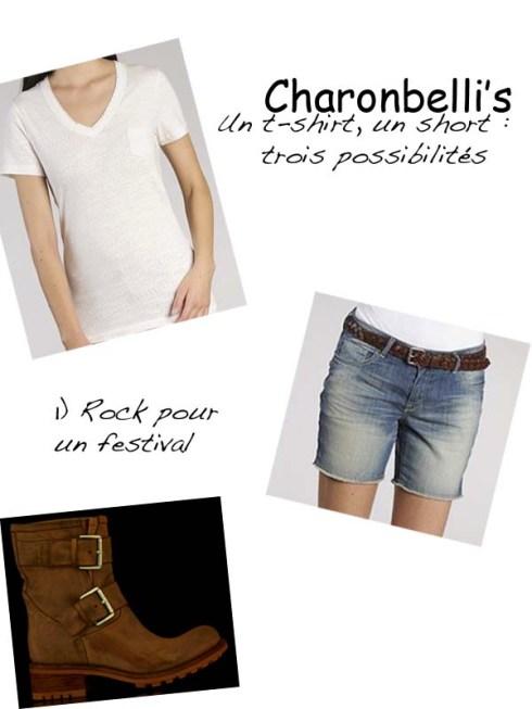 Un short, un t-shirt, trois possibilités (1)- Charonbelli's blog mode