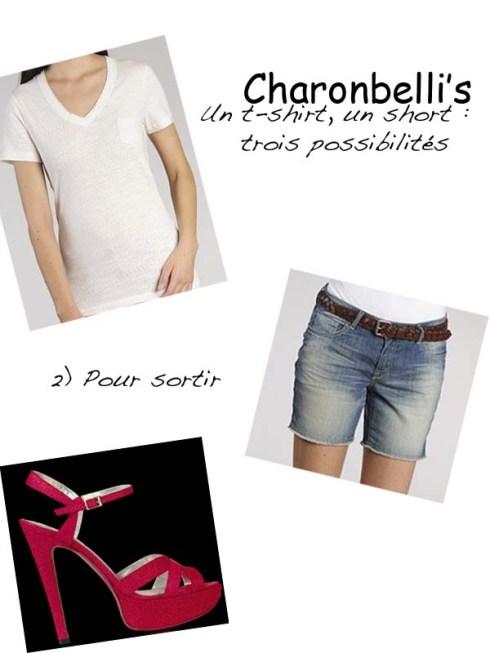 Un short, un t-shirt, trois possibilités (2) - Charonbelli's blog mode