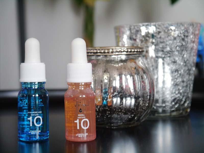 J'ai testé les sérums à l'acide hyaluronique et bio cell V 10 Plus Japanese skin care - Charonbelli's blog beauté