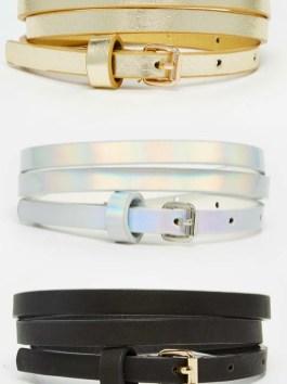 Ceintures effet métallisé holographique Asos - Ma sélection shopping holographique - Charonbelli's blog mode