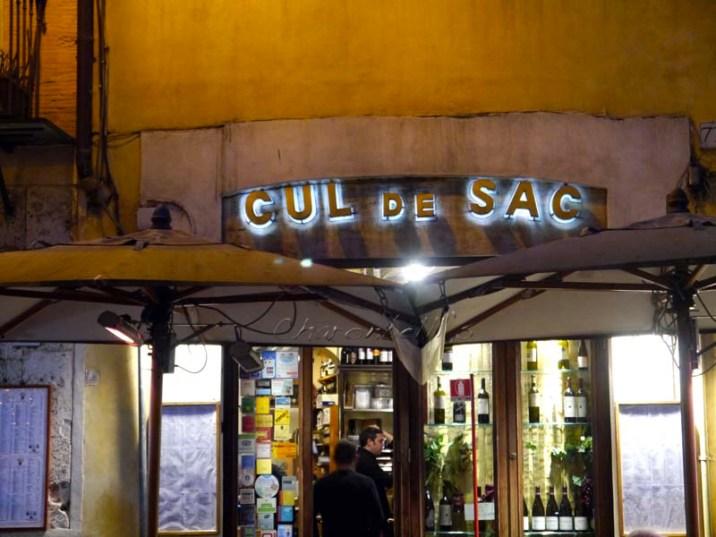 Cul de sac (2) - Où manger à Rome ? Mes meilleures adresses - Charonbelli's blog voyages