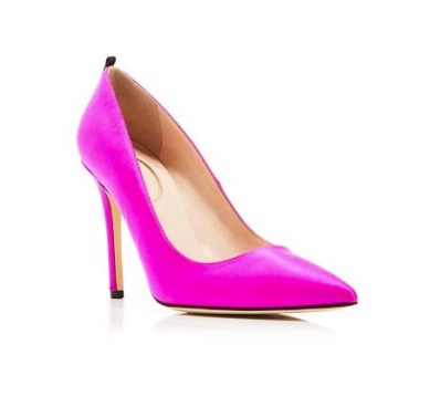 Fawn satin high heels SJP by Sarah Jessica Parker - SJP by Sarah Jessica Parker - quand les escarpins de Carrie Bradshaw arrivent chez Bloomingdale's - Charonbelli's blog mode