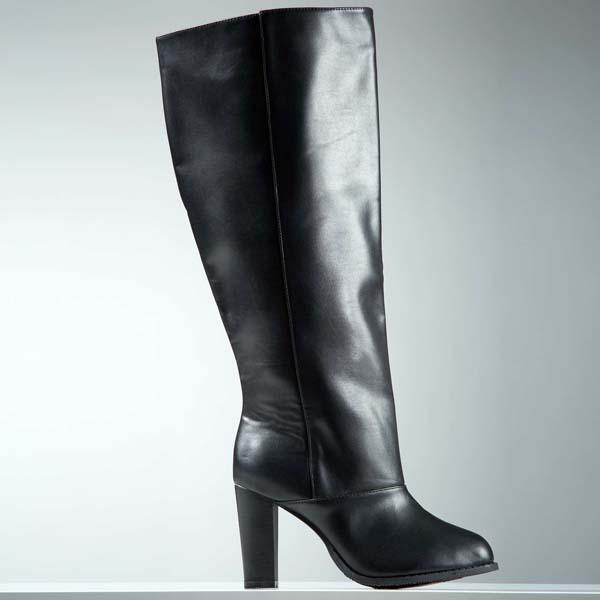 Bottes pieds larges Stéphanie ZwickyXKiabi - La collection Stéphanie Zwicky X Kiabi enfin disponible ! - Charonbelli's blog mode