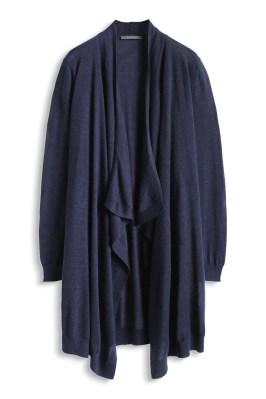 Manteau ouvert en fine maille de laine Esprit - Charonbelli's blog mode