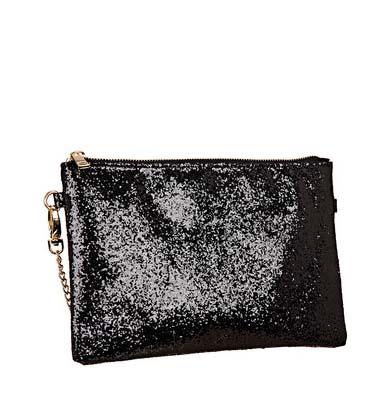 Pochette noire à paillettes Molly Bracken – La collection capsule exclusive de Georgia May Jagger pour Minelli – Charonbelli's blog mode