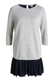 Robe mélangée tissu et jersey Esprit - Charonbelli's blog mode
