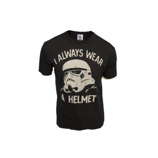 T shirt Star Wars I always wear a helmet Junk Food - Cometeshop - Charonbelli's blog mode